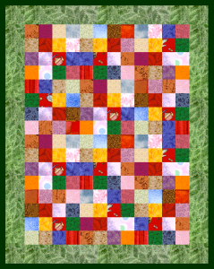Postage Stamp Doll Quilt with Border