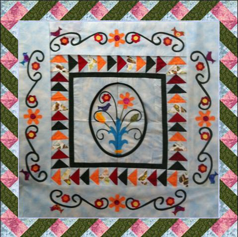 Spring Medallion: Twisted Ribbon Border - Lyn Brown's Quilting Blog : ribbon quilt - Adamdwight.com