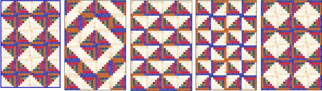 Log Cabin Quilt Group1 1024x291 Log Cabin Doll Quilt
