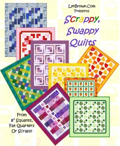 Scrappy Swappy Quilts Cover 248x300 Woohoo! August Christmas Ornament: Baby Block