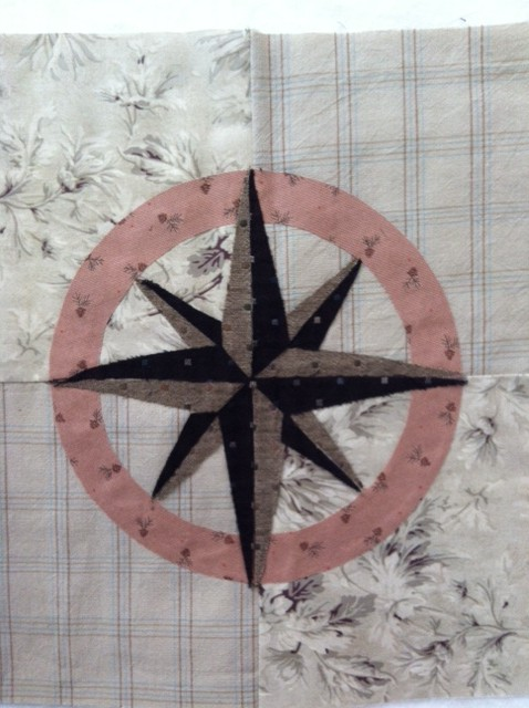 Nautical Tumble Block 13 Compass Rose Lyn Browns Quilting Blog