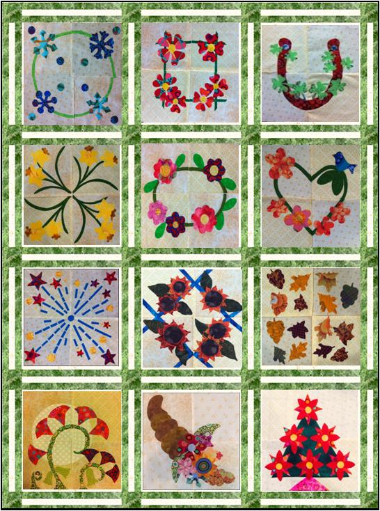 Fanciful Floral FourSquare Quilt Setting - 3 Part Sashing - Lyn ... : sashing for quilts - Adamdwight.com