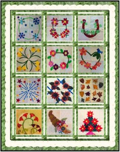 fff scallop border 237x300 Fanciful Floral FourSquare   Adding Borders!