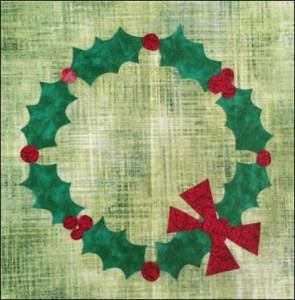 DoUC 21 Holly Wreath 295x300 Do You See...? Christmas Block Of The Week Block 21 Holly Wreath