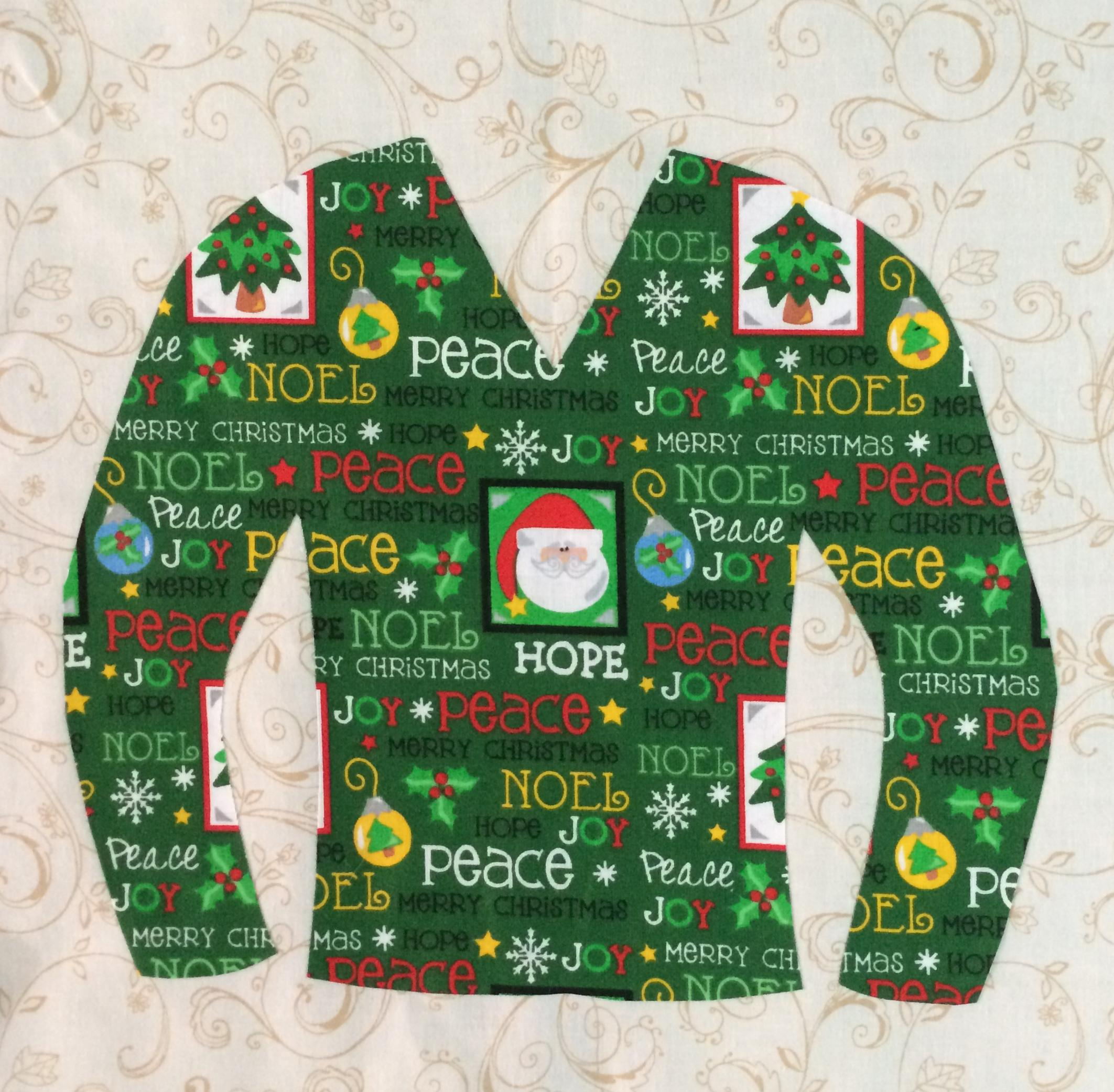 Christmas Sweater Swapscrap Free Quilt Pattern Corrected 61014