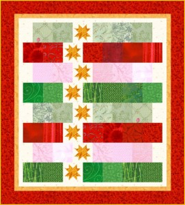 Strippy Stars Christmas 271x300 Do You See...? Block Of The Week 34 Heading Home